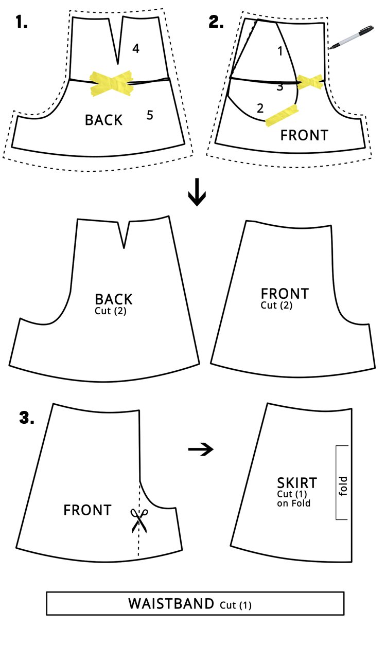 Women's Skort DIY - Great Pattern Hack