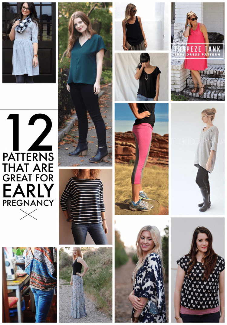 12 (non maternity) patterns great for early maternity wear