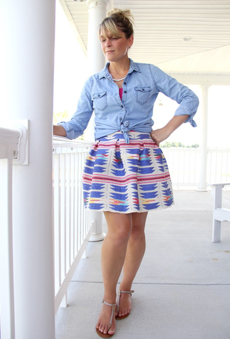 how to sew a pleated mini skirt || pleated mini skirt DIY