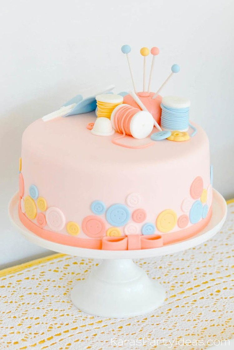 Cute As A Button Birthday Cakes