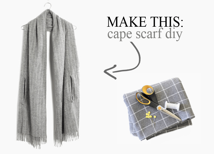 Cape Scarf DIY - The Sewing Rabbit