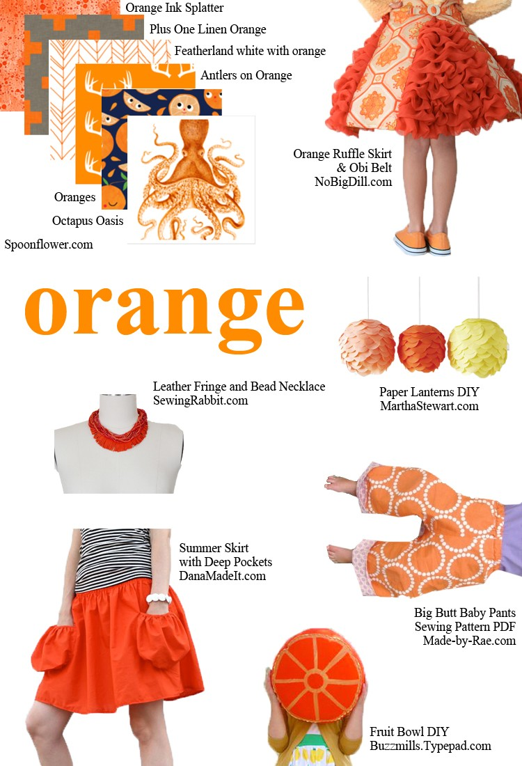 ORANGE - pick a color and start sewing!
