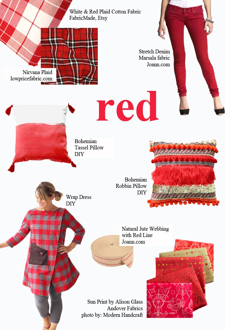 RED - pick a color and start sewing!