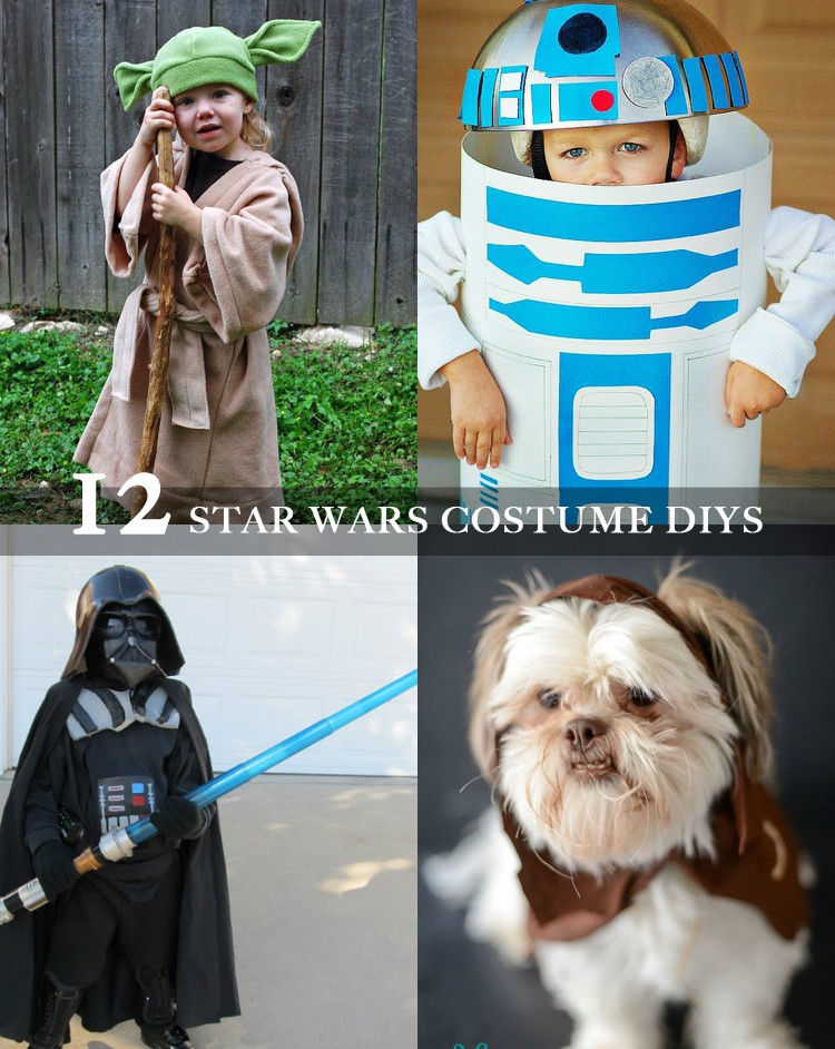 Handmade Halloween Star Wars Costumes || 12 Star Wars Costume DIYs to bring your force to the next level!