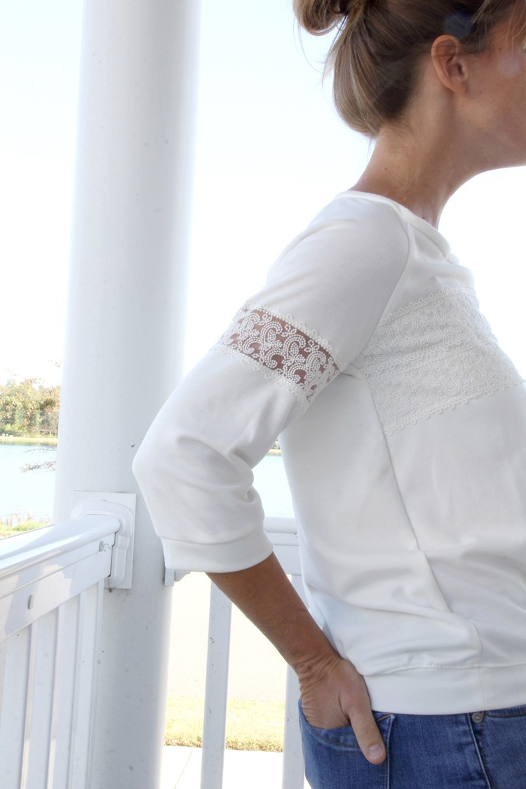 Lace Shirt DIY      How to add lace to shirt sleeves