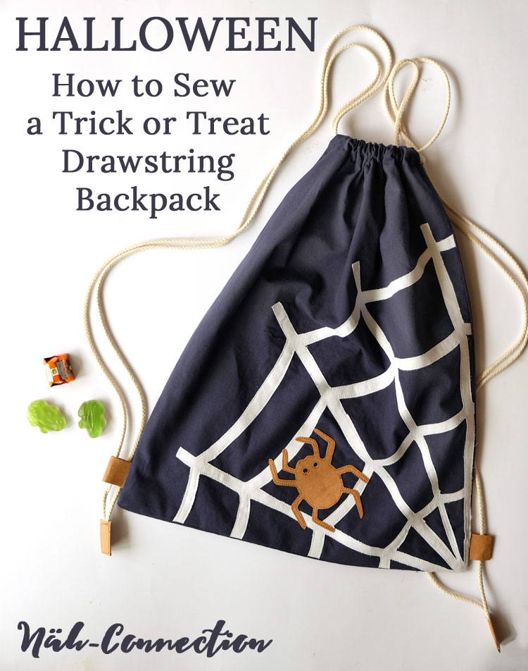 Bag Sewing Tutorial: Drawstring Backpack DIY ||  by Näh-Connection for the Sewing Rabbit
