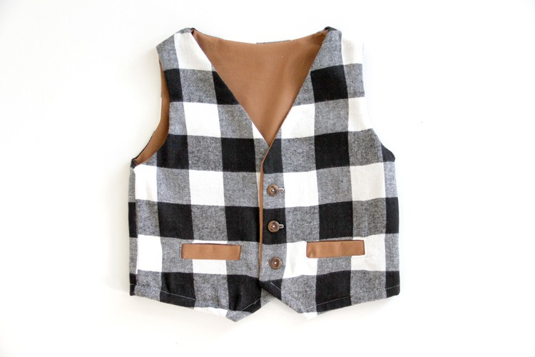 Sew up a little boys vest this holiday season!
