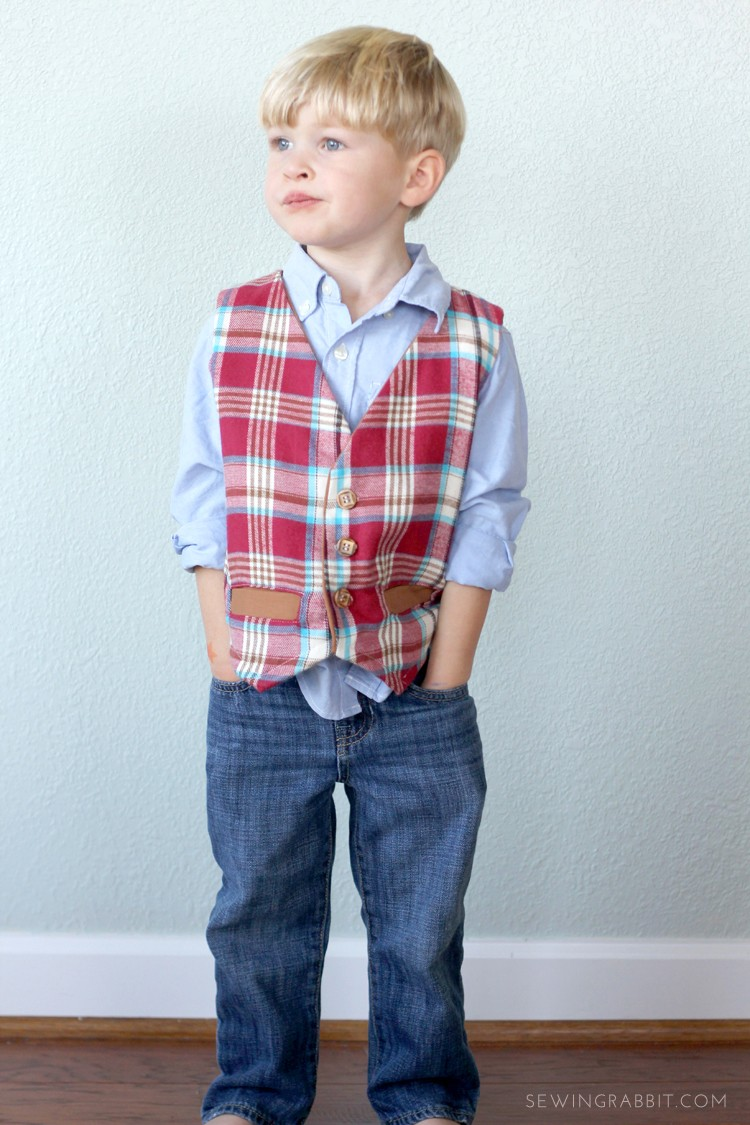 Free Boys Vest Pattern, how to sew a boys vest for the holidays