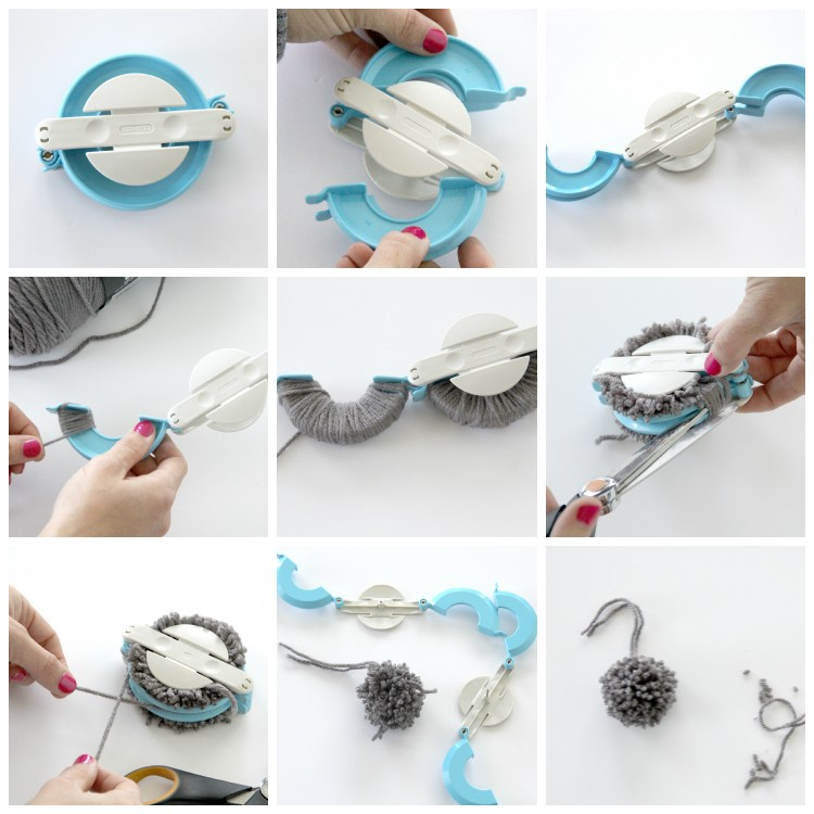 how to make yarn pom poms