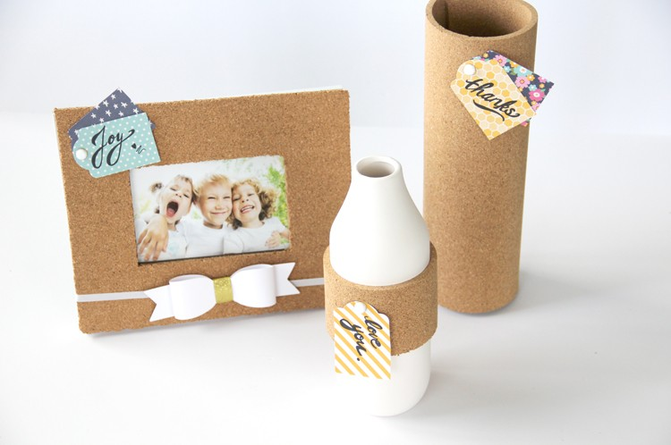 Easy handmade Corkboard gifts