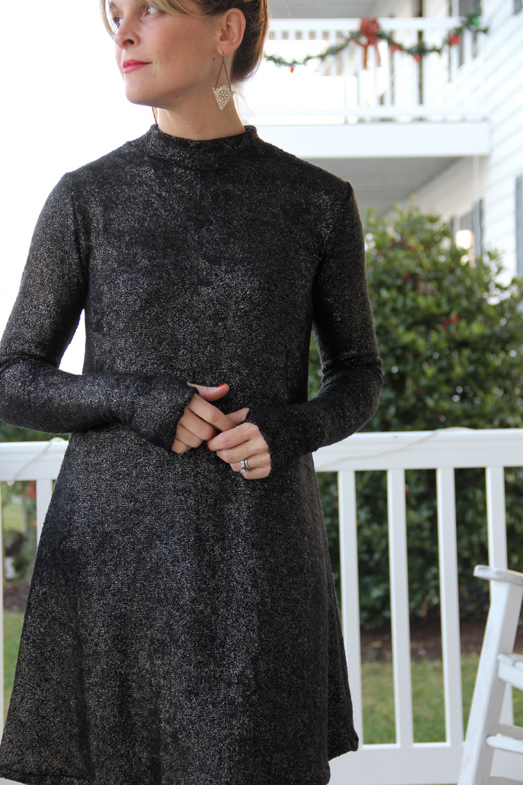 How to sew a mock turtleneck swing dress