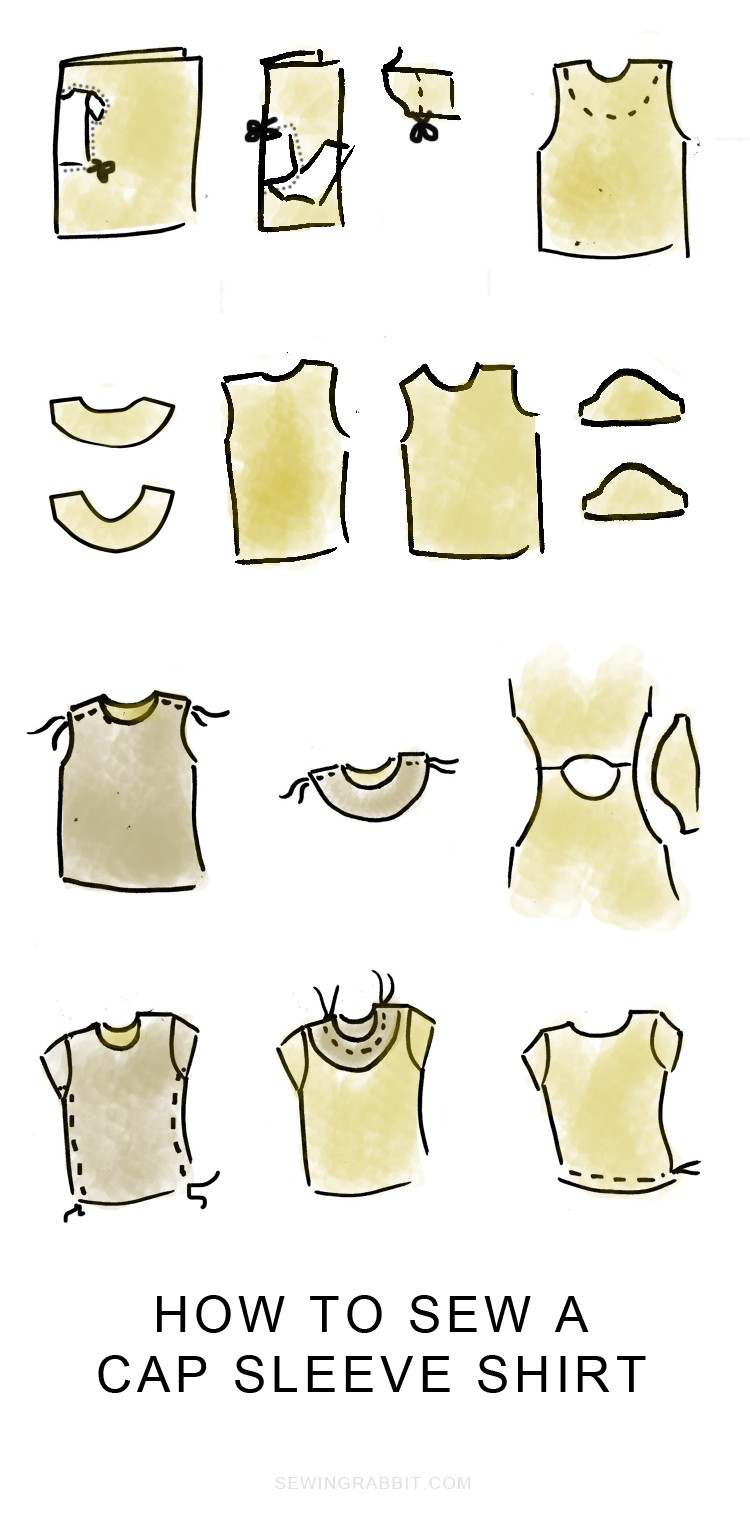 how to sew a cap sleeve shirt