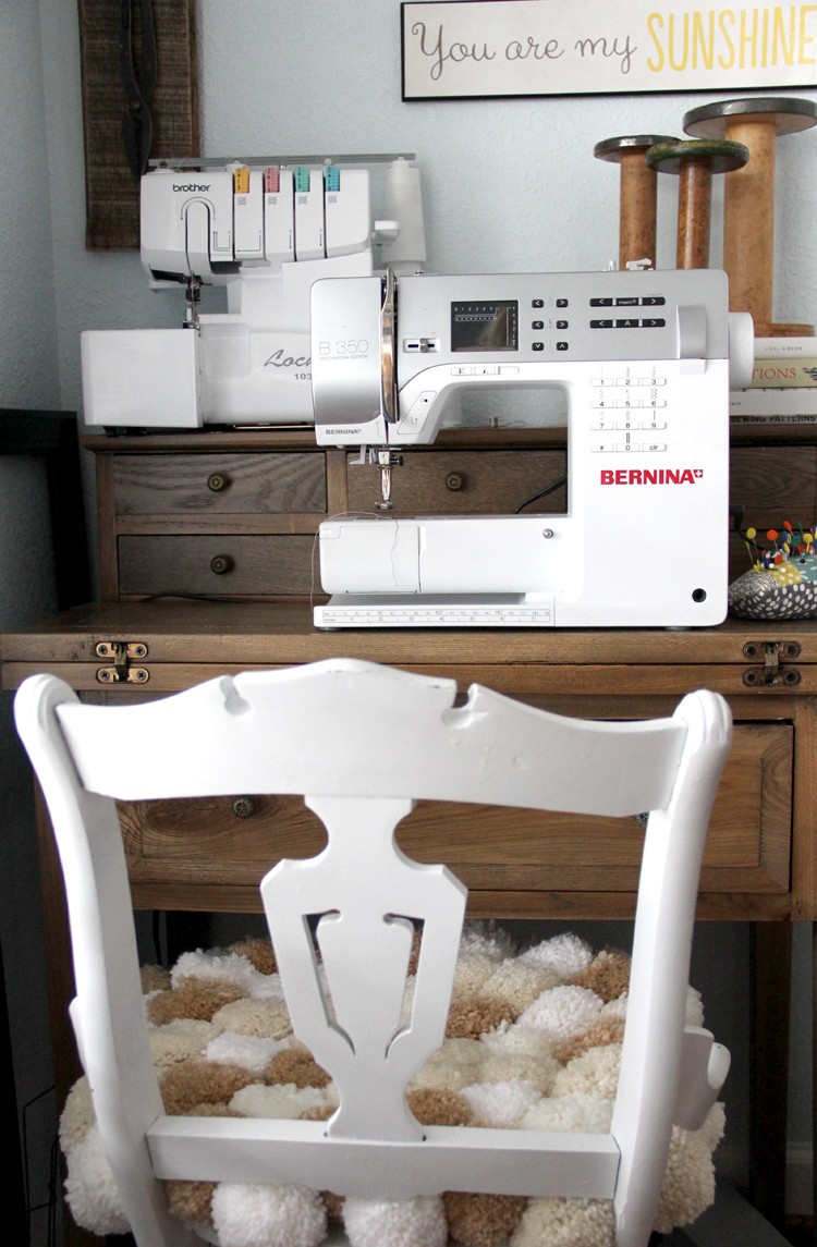 secretary desk that folds out for larger sewing projects