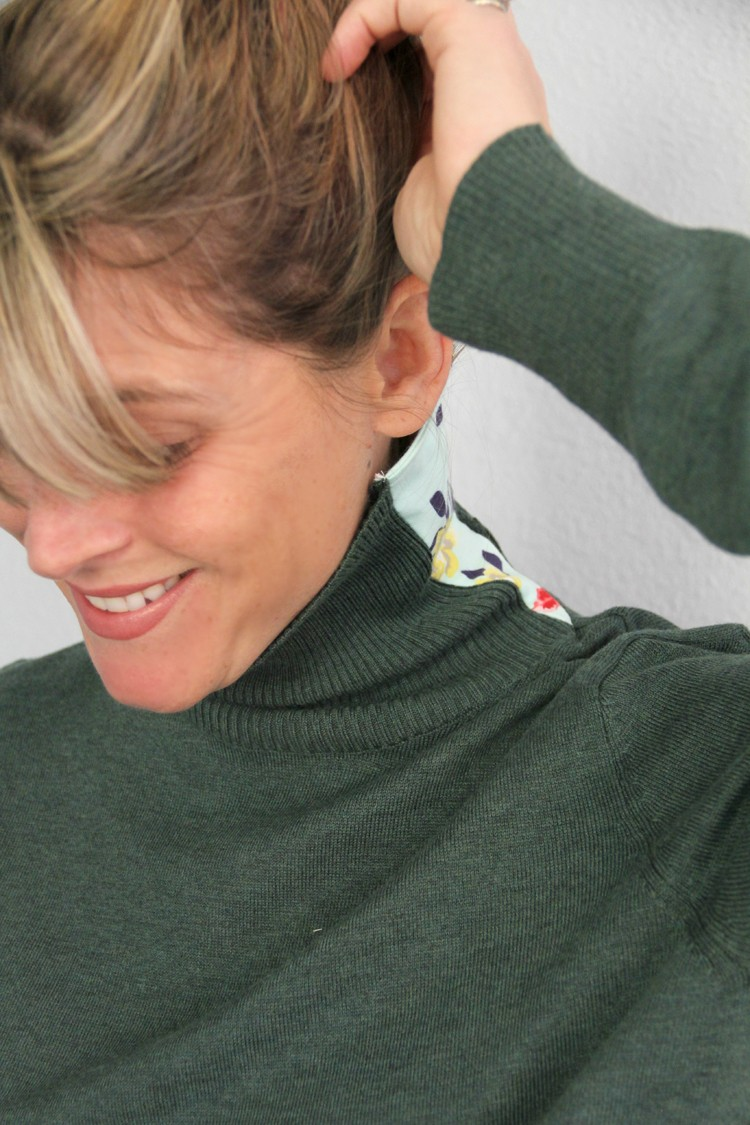how to make a turtleneck larger, so you can stop choking!