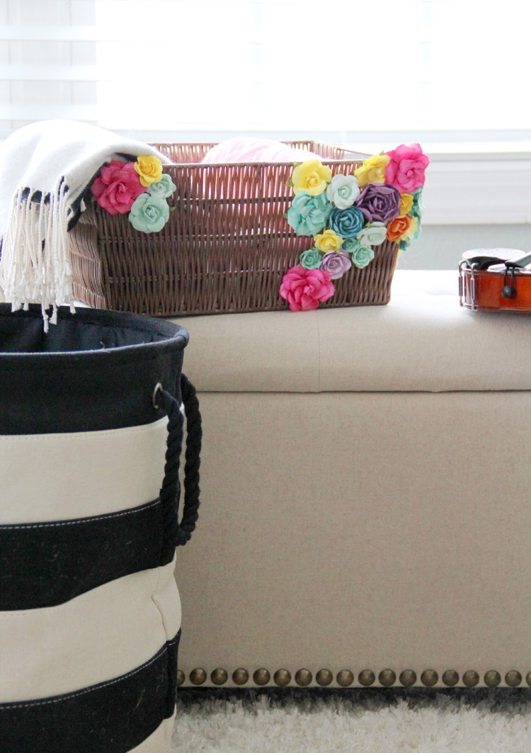 easily update your home decor for Spring with this simple basket DIY