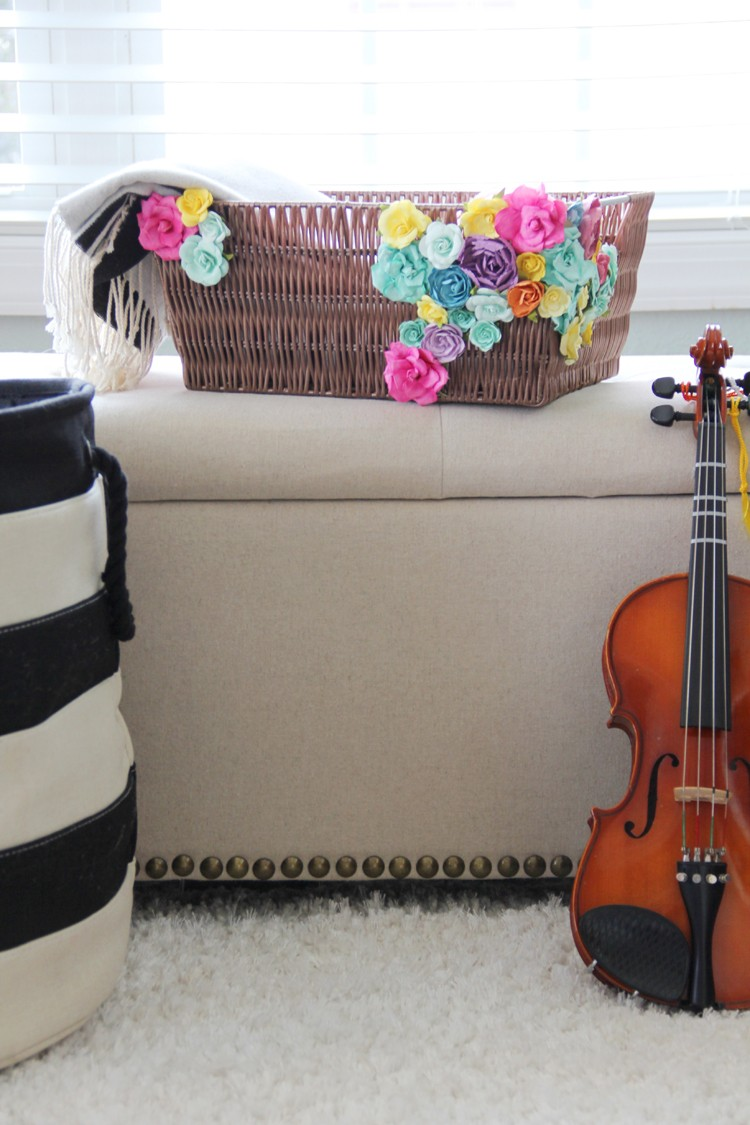 Add flowers to any ordinary basket with this simple craft DIY