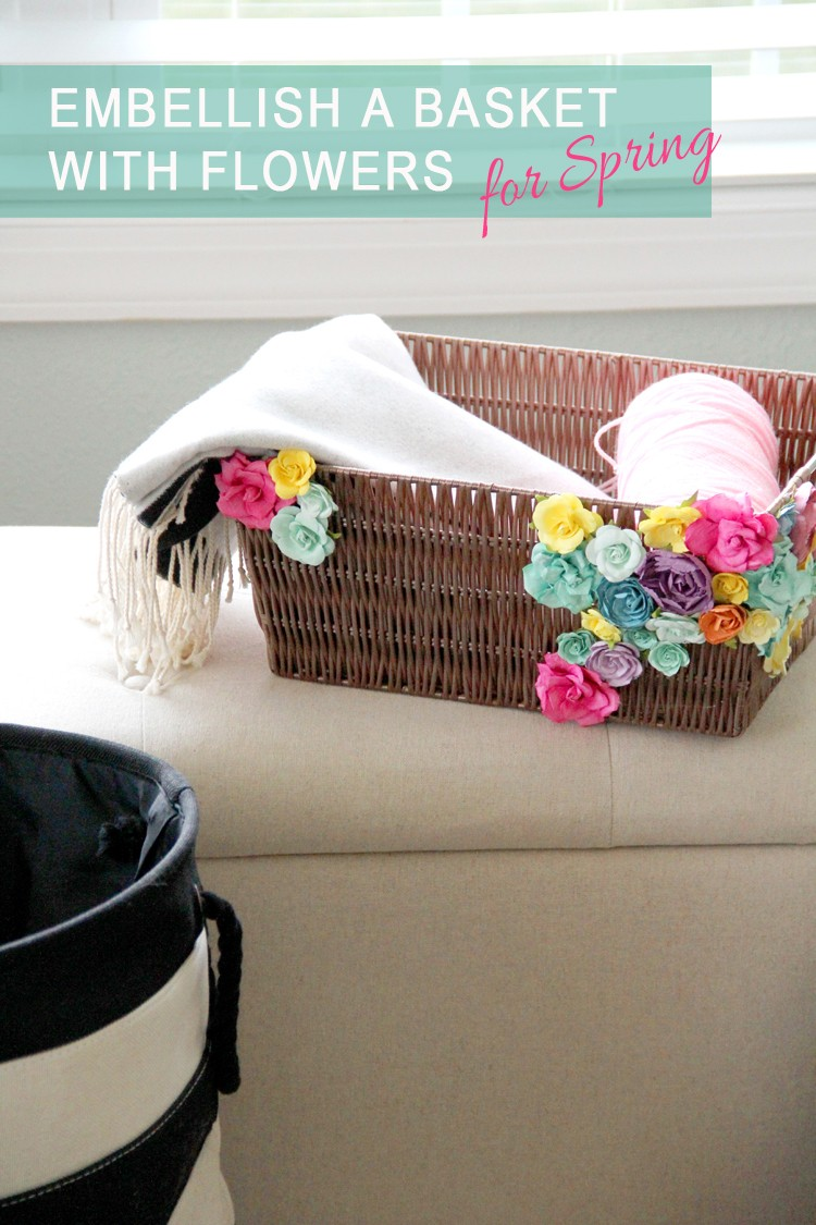 Love the juxtaposition of the brown basket against the brightly colored flowers!