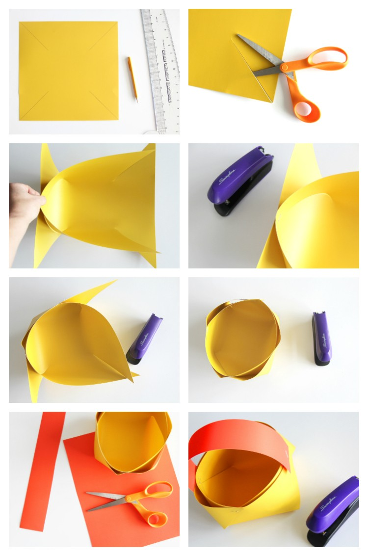 The easiest paper basket tutorial you will ever see!!! Takes less than 1 minute to make.