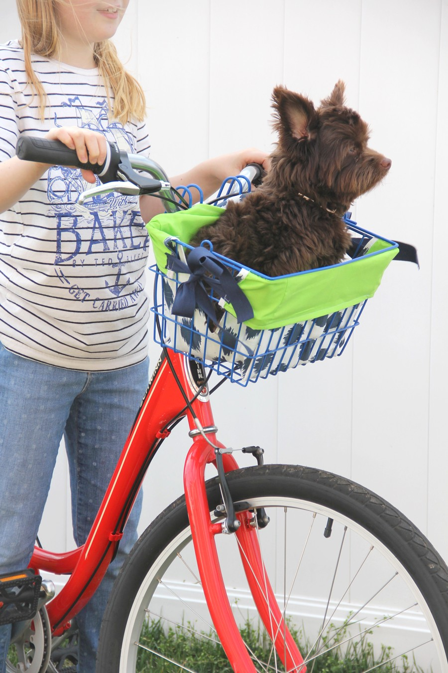 how to make a bike basket liner