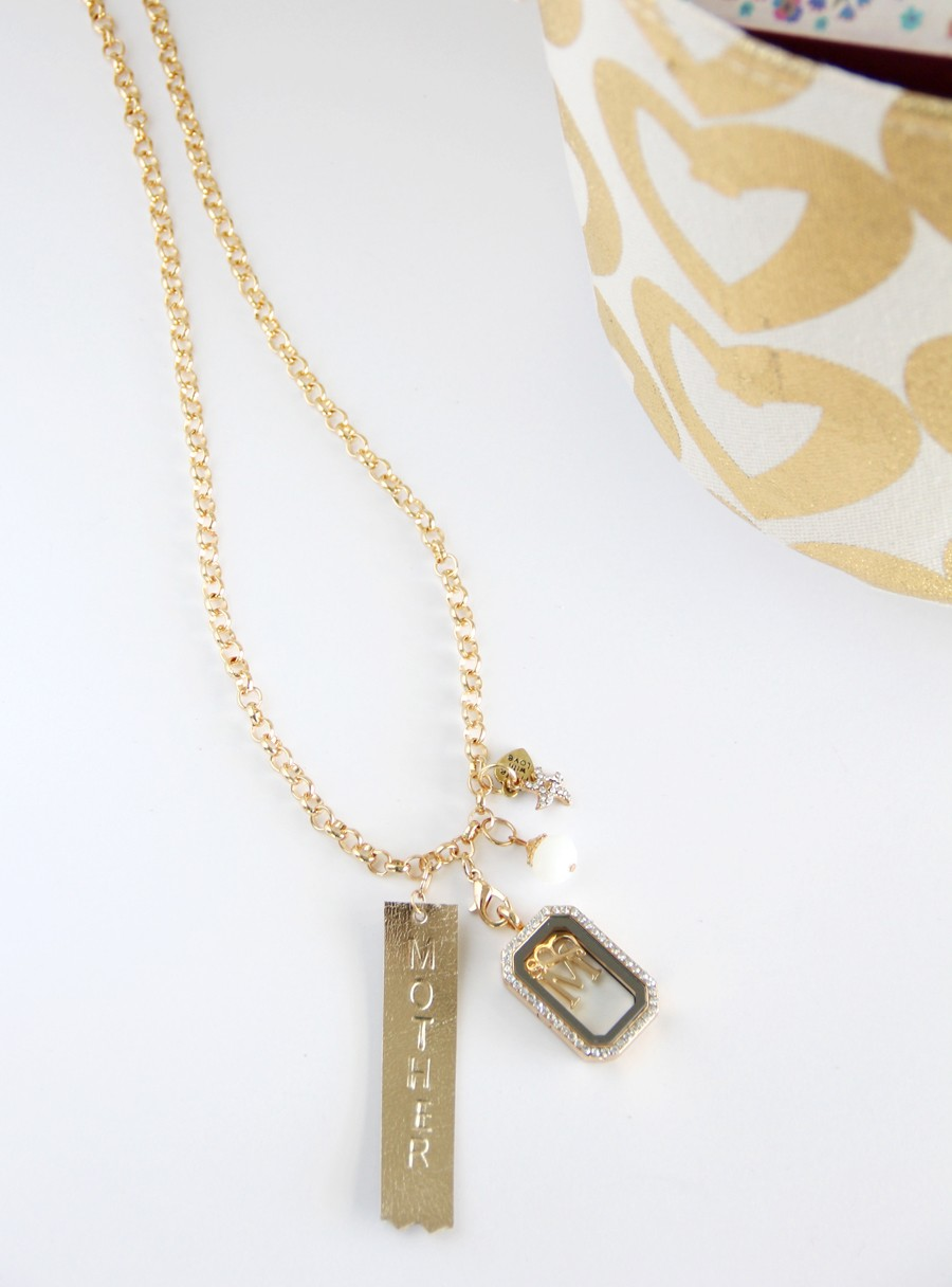 Hand Stamped Mother's Day Necklace