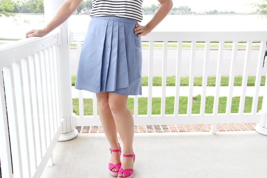 Pleated Wrap Skirt Pattern - The Sewing Rabbit