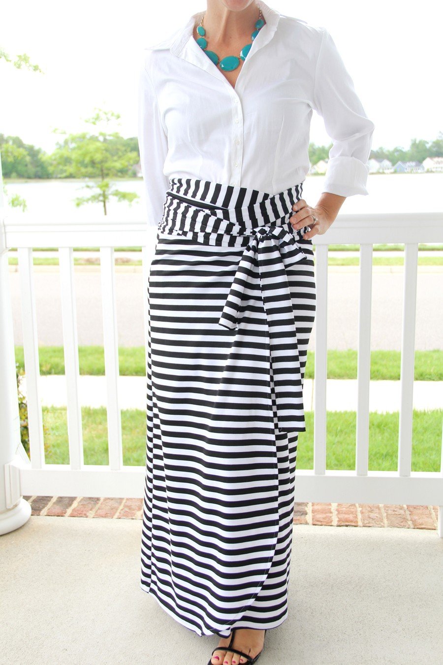 Wrap Maxi Skirt DIY || How to sew an easy women's maxi wrap skirt