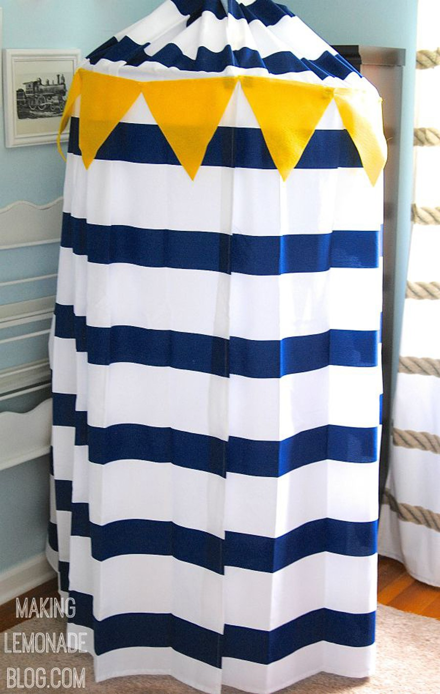 How to make a no-sew canopy tent