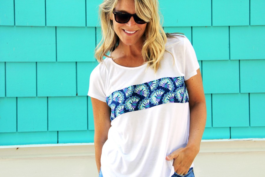 how to easily lengthen a t-shirt, t-shirt upcycle
