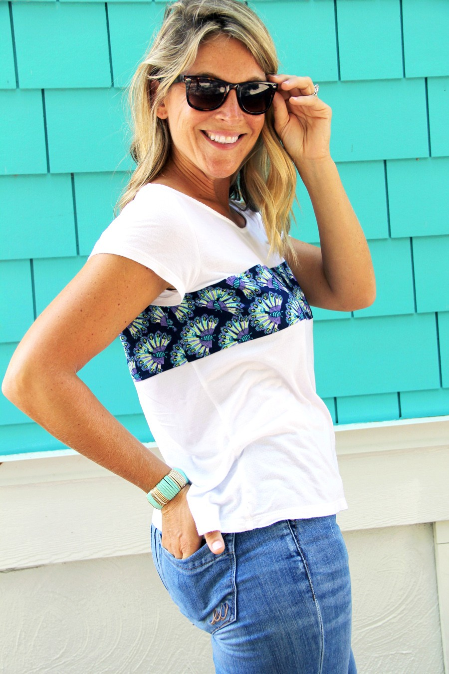 how to lengthen a t-shirt, t-shirt upcycle