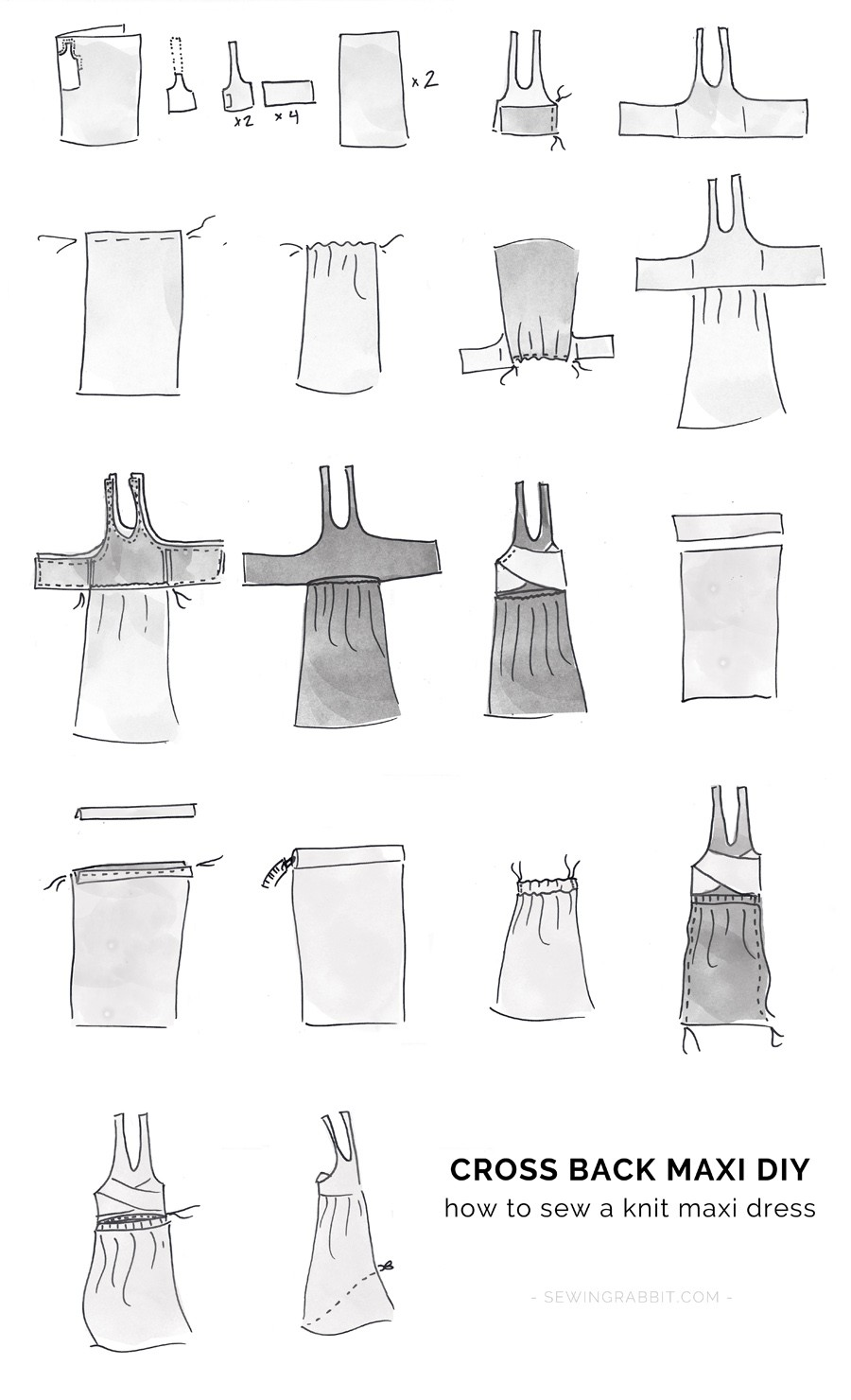 how to sew a maxi dress