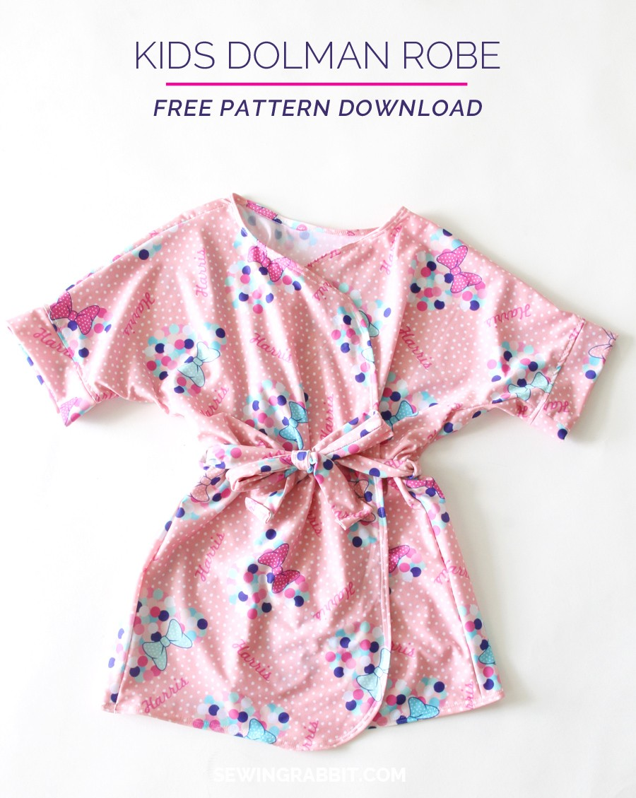 Kids Bathrobe - The Sewing Rabbit