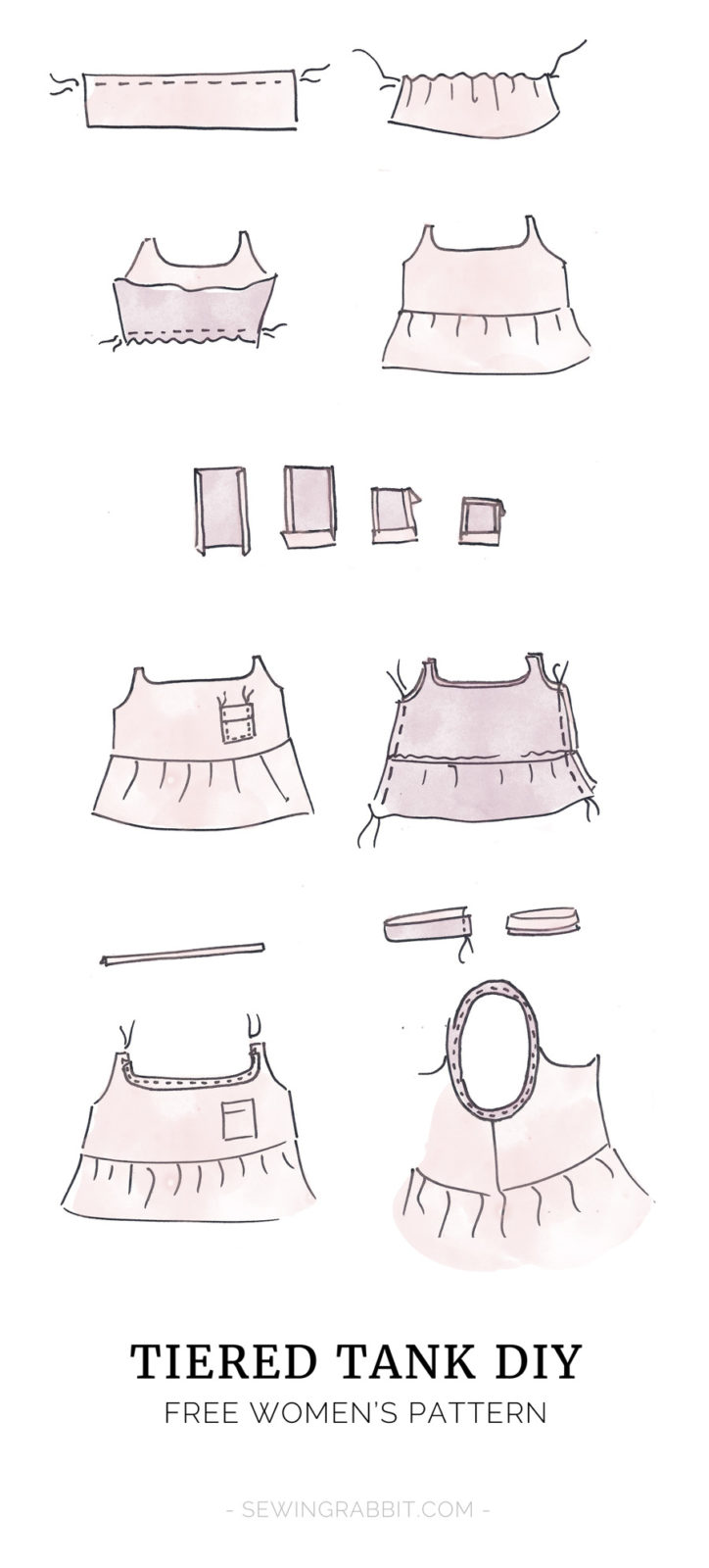 how to cut a 3 tier square wedding cake tiered tank pattern the sewing rabbit 15613