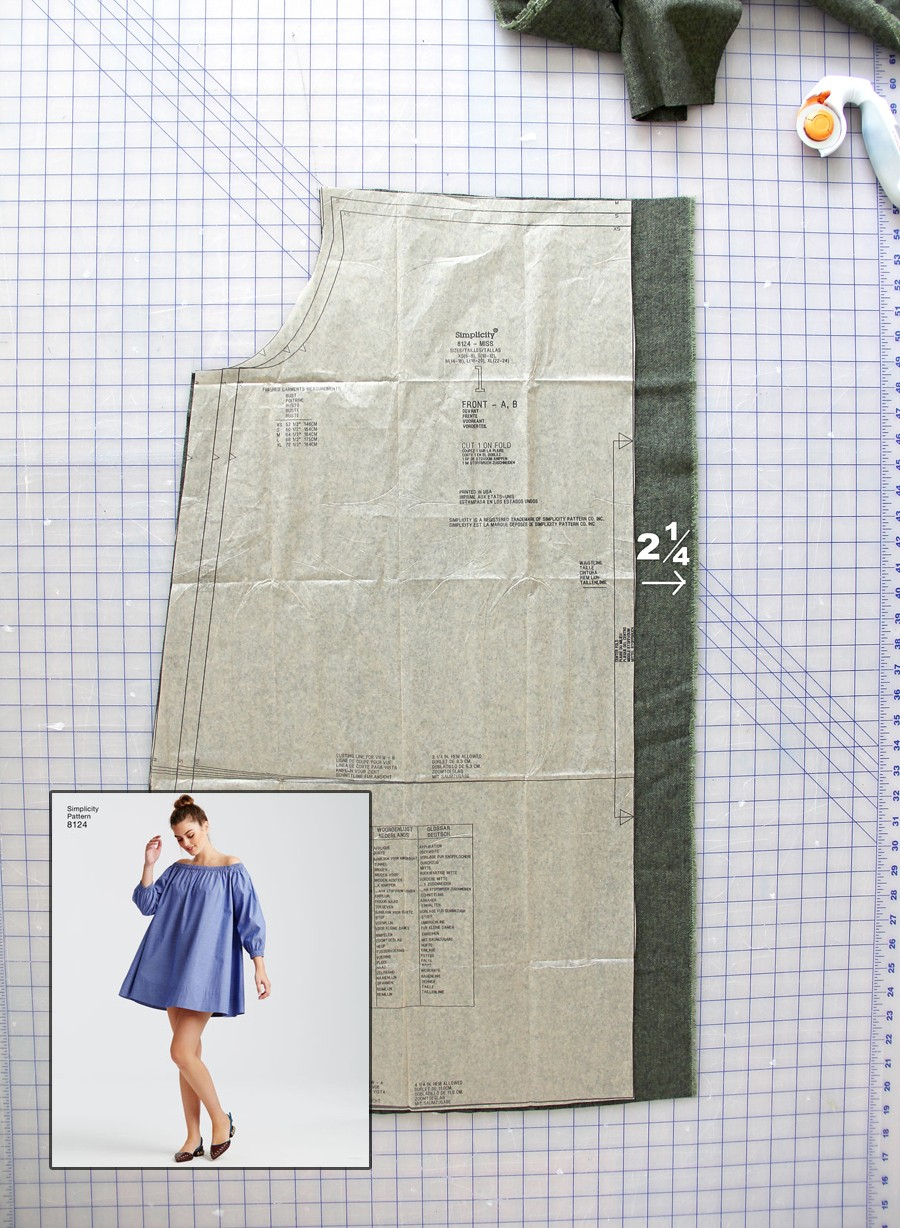 How to add a button placket to an off-the-shoulder dress