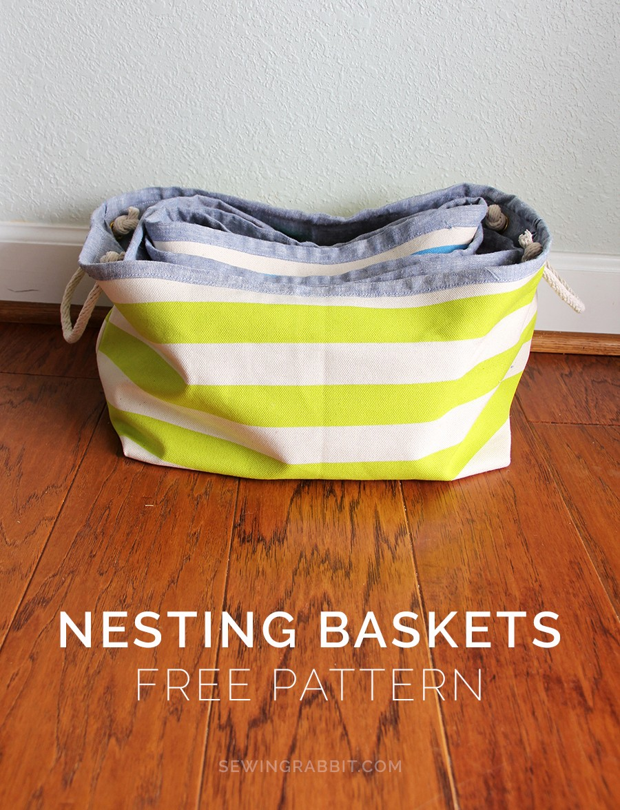 nesting baskets pattern || home warming gift DIY