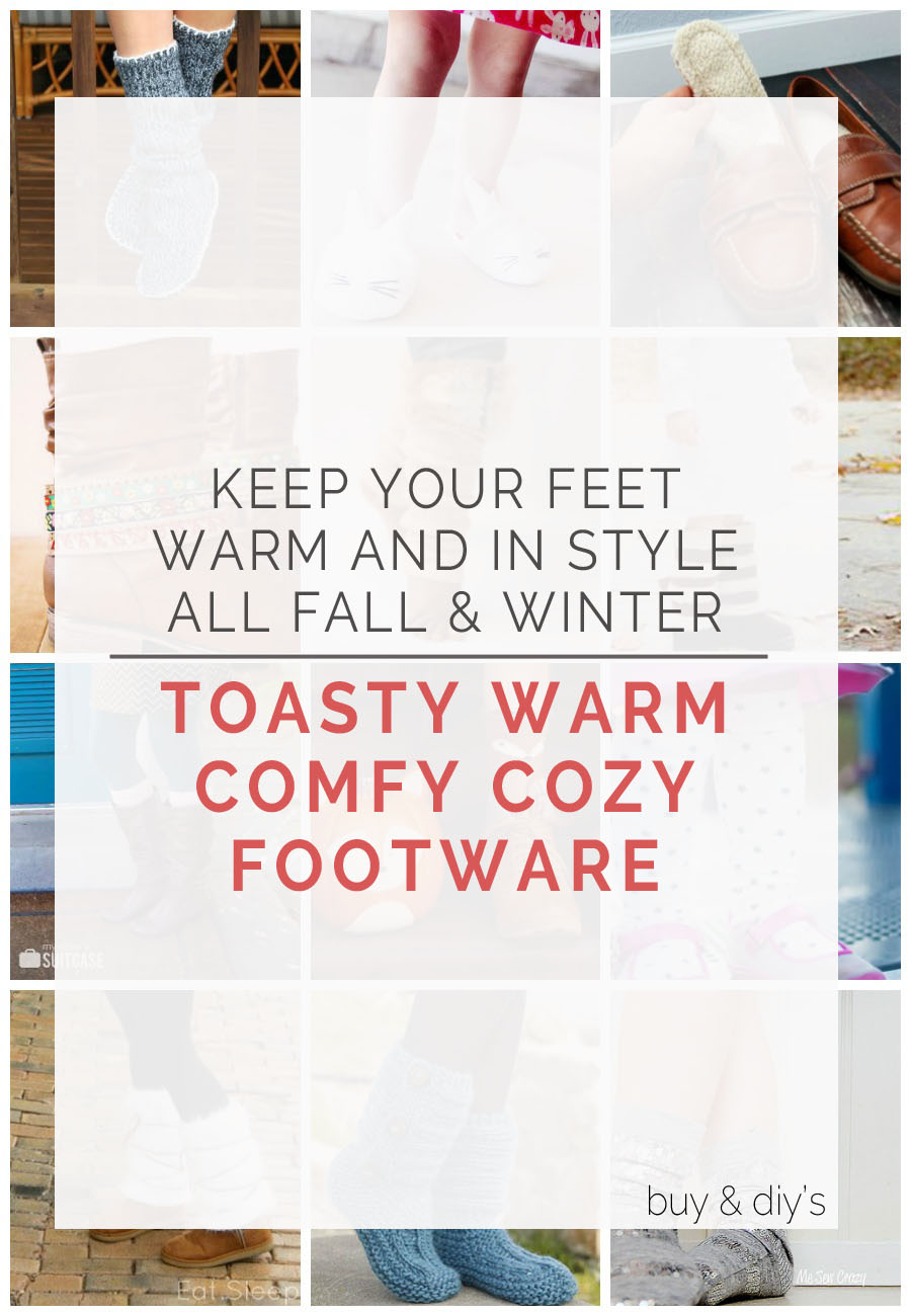 keep your feet warm and in style this Fall & Winter!! || footwear round up DIYs