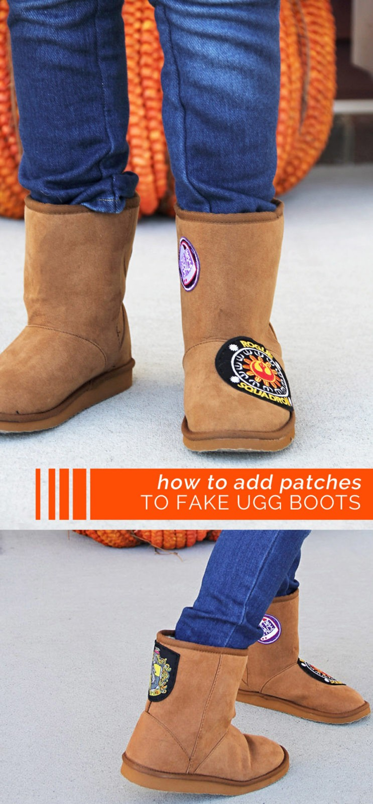 how to add patches to your boots