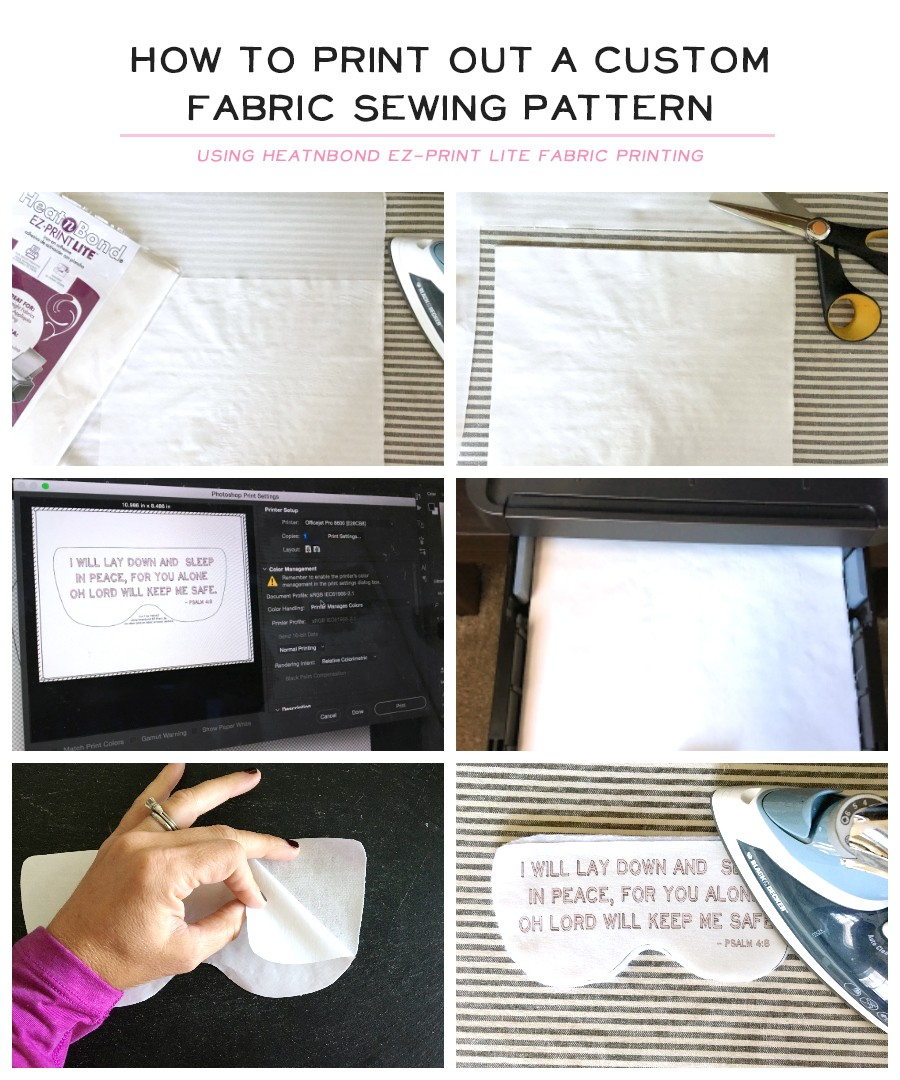 How to print out custom eye mask pattern