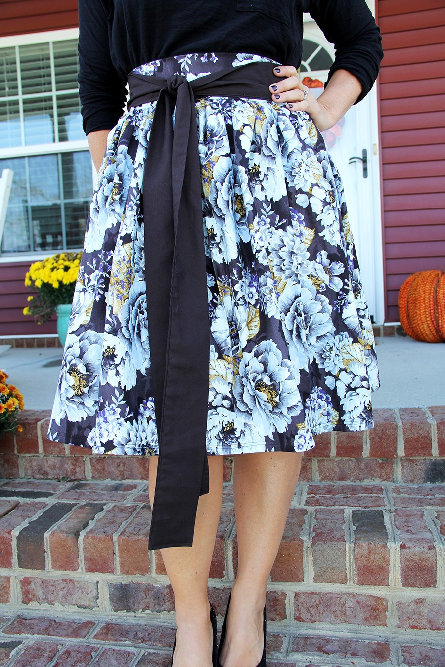 skirt with sash sewing pattern, thanksgiving skirt
