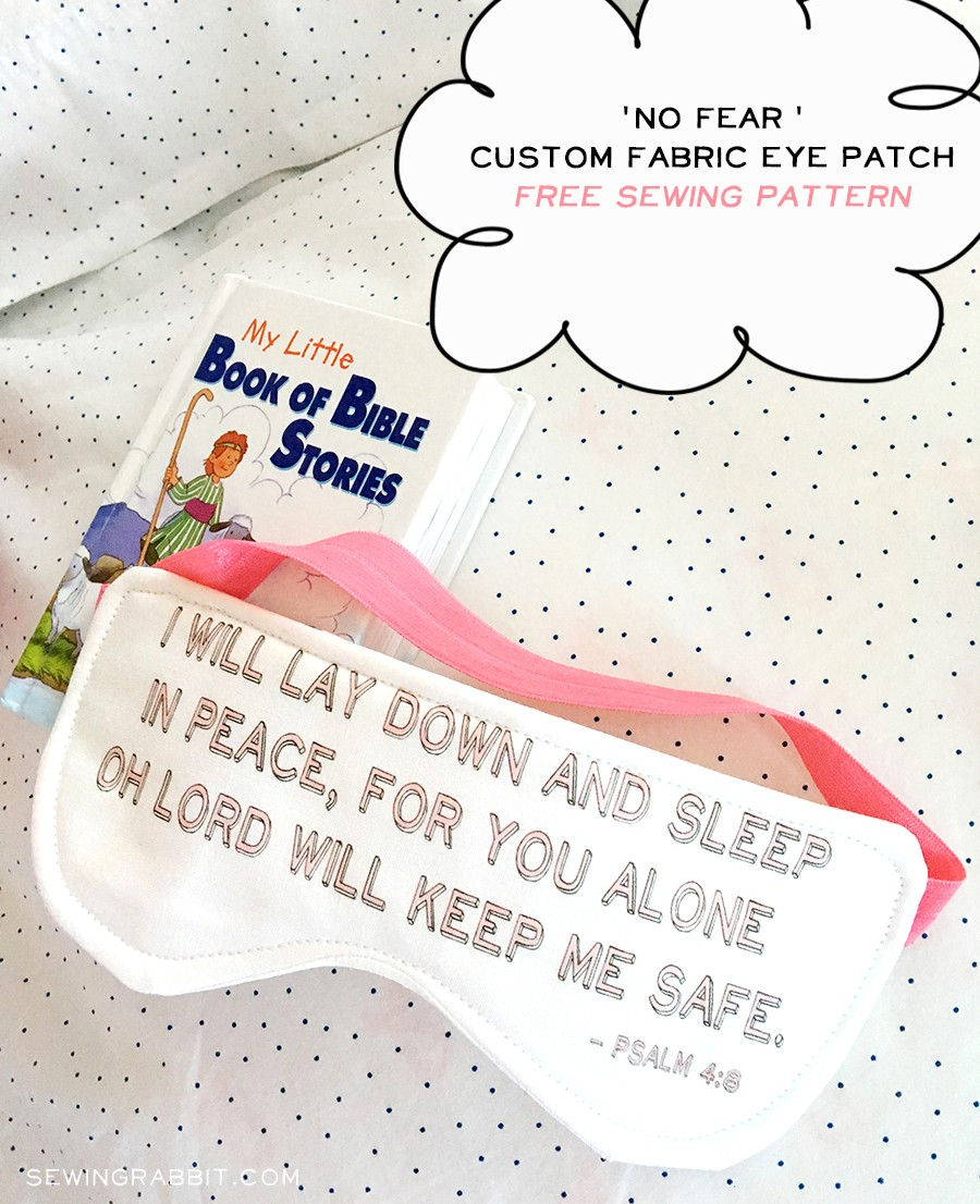 NO FEAR Eye patch sewing pattern, free eye patch pattern download