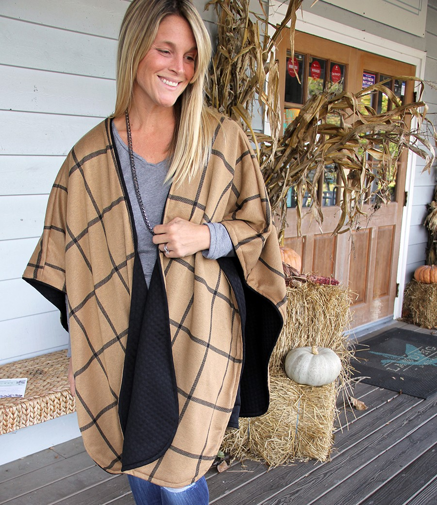 Reversible Poncho DIY - The Sewing Rabbit