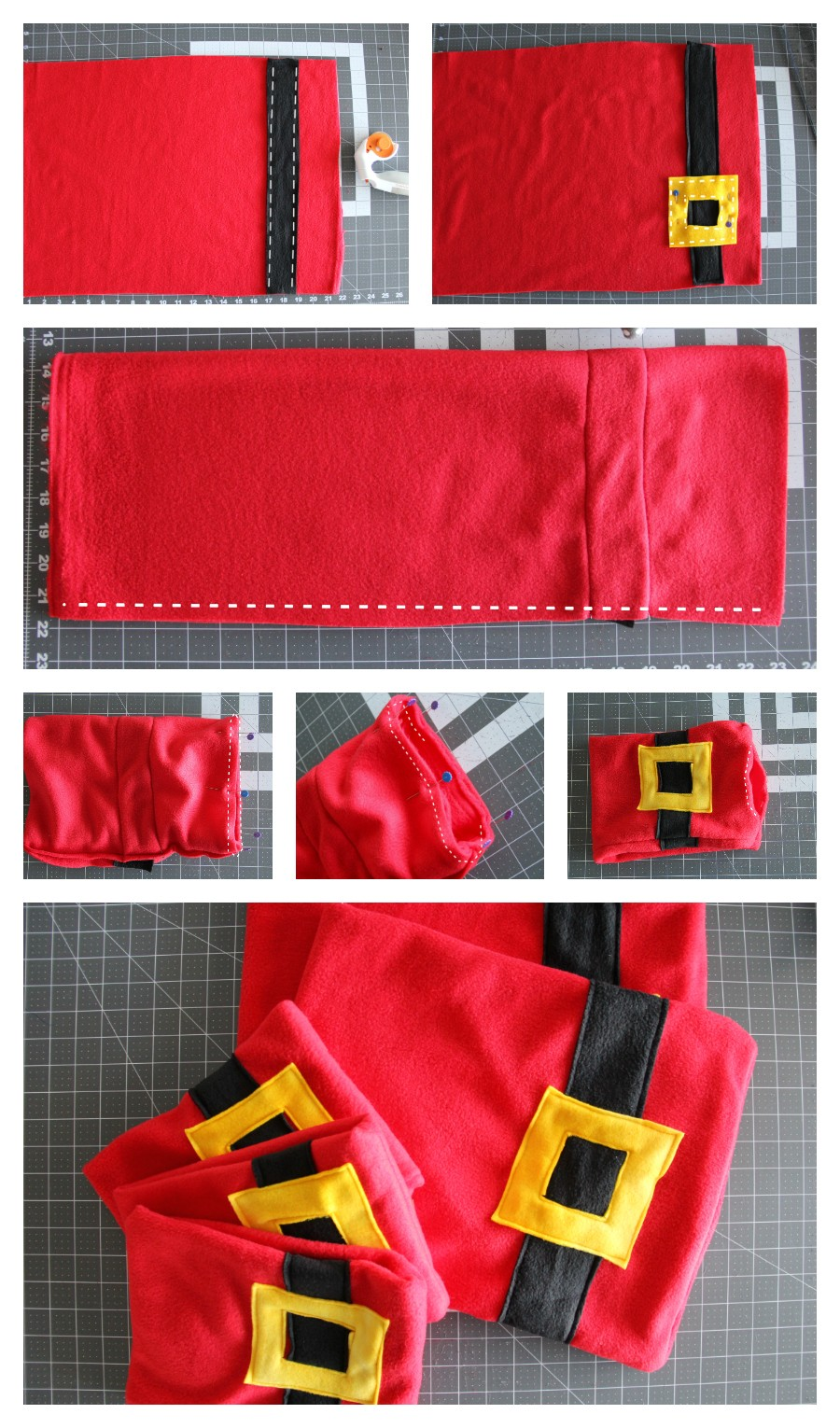 How to make a Santa neck scarf - for the Christmas enthusiast!