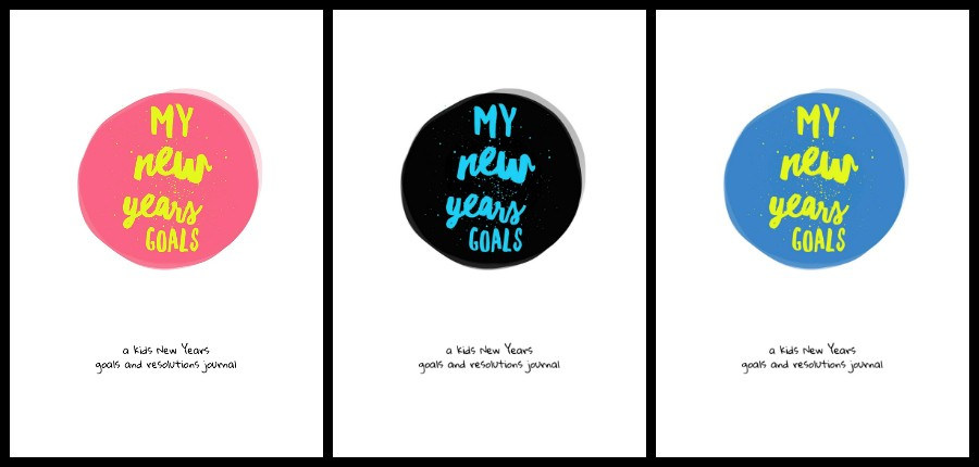 Kids New Years Goals and Resolutions Journal, free download