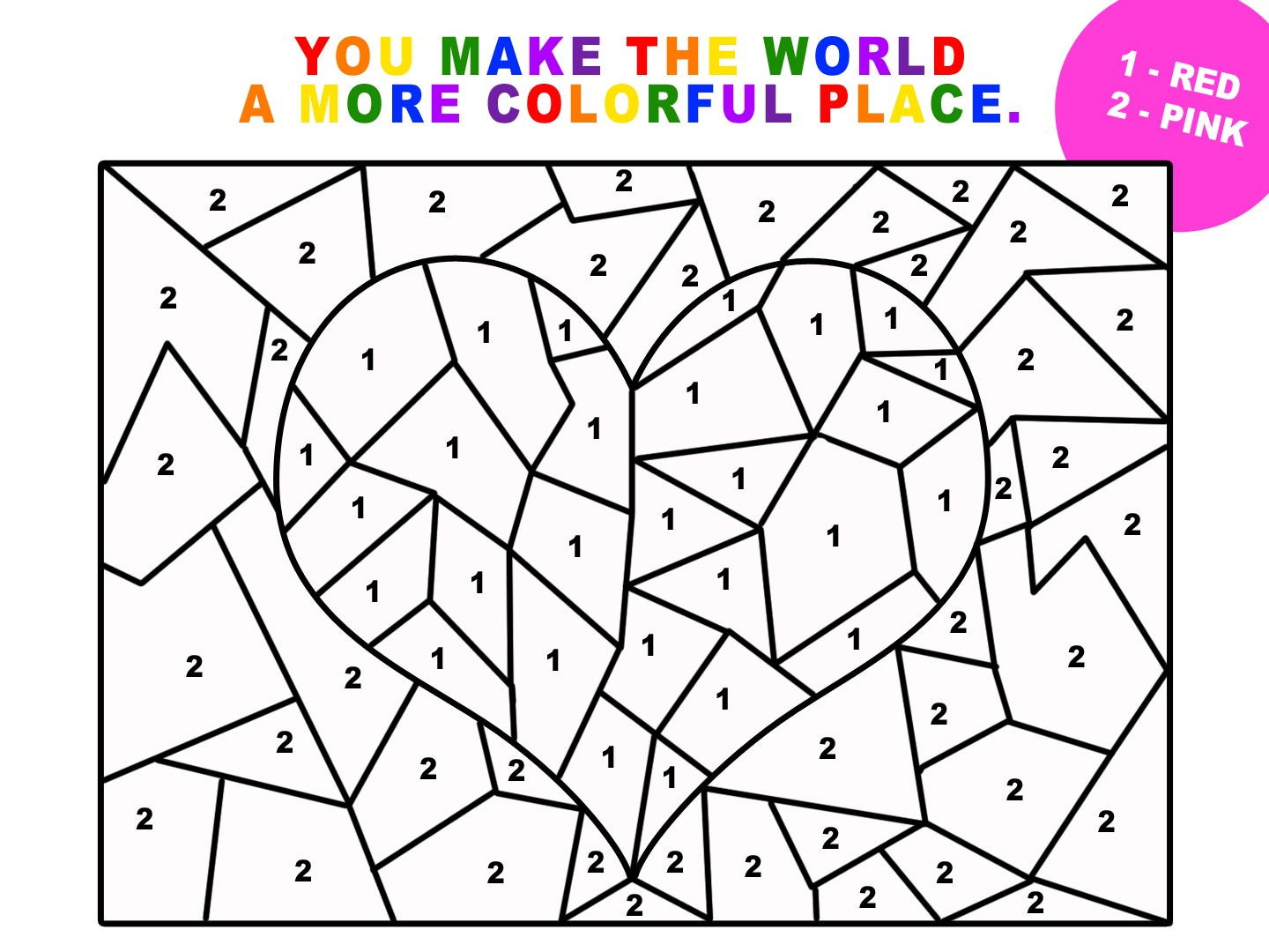 Number Coded Coloring Pages