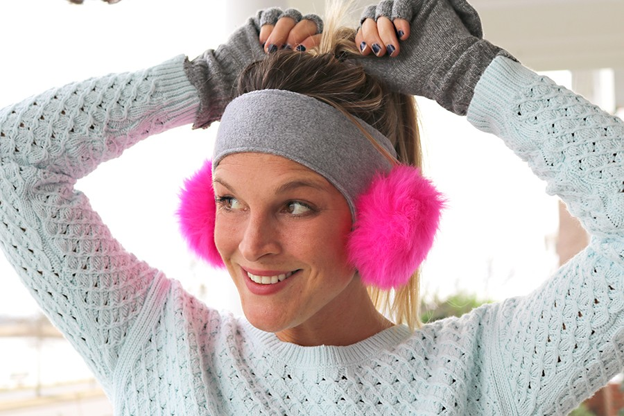 Pom Pom EaR Warmer Pattern (for adults and kids)
