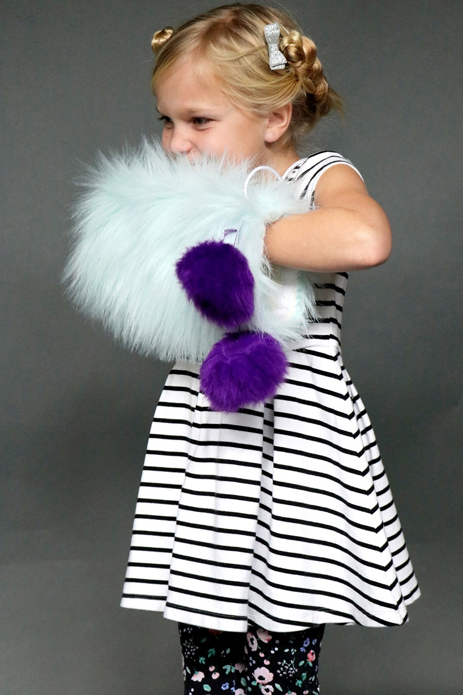 how to sew a kids fur hand warmer