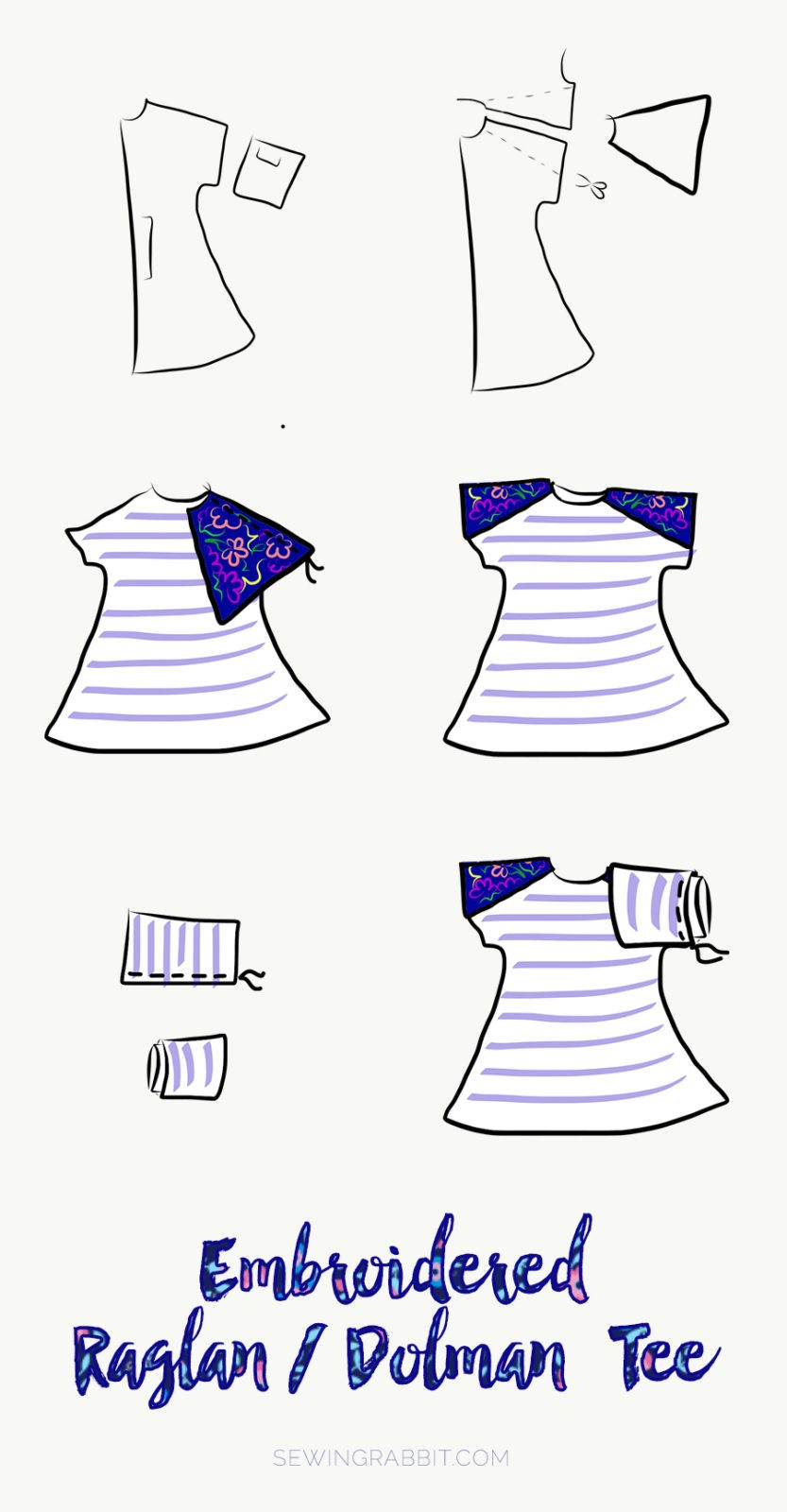 how to sew a raglan sleeve dolman top